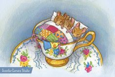 These cozy little mice are snoozing away and are waiting for you in my Etsy shop! #etsy #teacup #mice #mouse #babyshower #teaparty #beatrixpotter #illustration #illustrator #kidlitart #childrensbook #childrensbookillustration #childrensbook #nurseryart #etsyshop Mice Mouse, Third Baby, Baby Mouse, Watercolor Texture, Children's Book Illustration, Nursery Art, Teacup, Snuggles, Colored Pencils
