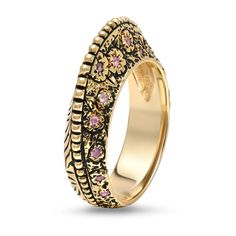 KAURA JEWELS | OFFICIAL SITE - Balance Mohawk Ring with Diamonds or Coloured Stones, 14-KARAT GOLD, (http://www.kaurajewels.com)
