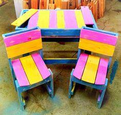 DIY Colorful Pallet Furniture for Kids | 99 Pallets