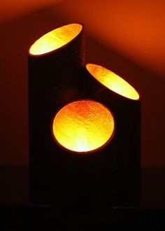 Lamps from pringles tubes