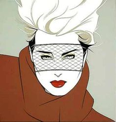 80's art and fashion.   Thanks Patrick Nagel.