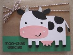 Cow calf birthday card cow cards pinterest stuffed cow and cow moo chas gracias cow thank you card bookmarktalkfo Images
