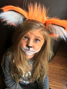 Easy little girl fox makeup and headband!