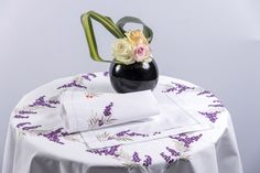 """Tablecloth """"Arbouse"""" Purple and Silver"""
