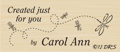 Custom Dragonfly Created By Rubber Stamp By DRS Designs