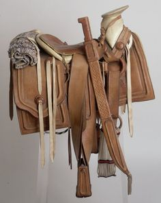 Saddle  Single, Mexican-rigged, Mexican or Charro-style saddle (20th Century)