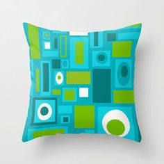 Outdoor Pillow Mid Century Modern Outdoor by crashpaddesigns, $58.00