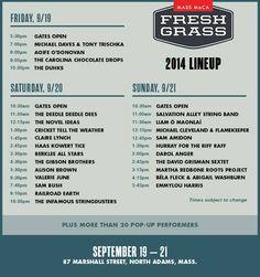 Fress Grass 2014 Lineup