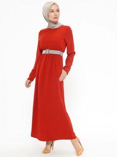 cf7b0eff934 Tan - Crew neck - Unlined - Dresses