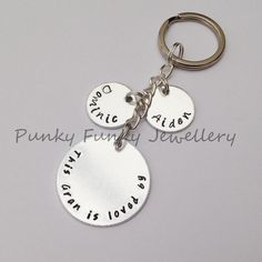 Personalised Grandma keyring 'This by PFJewelleryshop on Etsy