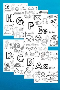Free, Printable Alphabet Coloring Pages - Hey Kelly Marie