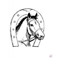Dessin r aliste d 39 un cheval qui fait un saut colorier - Dessin fer a cheval ...