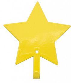 Aan deze sprankelende ster hang je met plezier je jas op. De kapstokhaakjes zijn verkrijgbaar in geel, mint groen, licht blauw, donker blauw, licht roze en ...