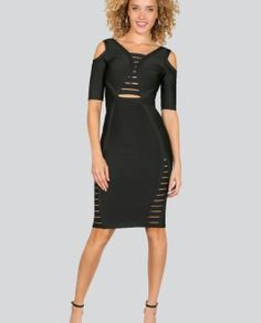 Kaya Caged Bandage Dress