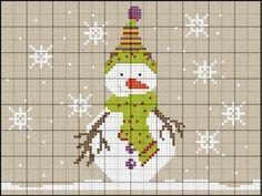 Voici mon bonhomme de neige avec ses couleurs originales specialement pour vous grace au concours Myosotis Creation bises Vivine