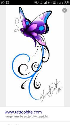 Christines butterfly Tattoo by Kuragarikurasu on DeviantArt - Christine's . - Christines butterfly Tattoo by Kuragarikurasu on DeviantArt – Christine's … – Christines bu - Butterfly Drawing, Butterfly Tattoo Designs, Butterfly Wallpaper, Butterfly Design, Purple Butterfly Tattoo, Dragonfly Tattoo Design, Butterfly Quotes, Trendy Tattoos, Tattoos For Women