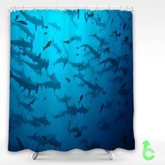 #scalloped #hammerhead #sharks #Shower #Curtain  #showercurtain #decorative #bathroom #creative #homedecor #decor #present #giftidea #birthday #men #women #kids #newhot #lowprice #cover #favorite #custom #friend