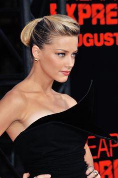 Amber Heard. Love the hair