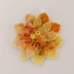 Yellow Handmade Felt Flower Brooch - Feltdecorations.co.uk .. 2015 - 2016 http://profotolib.com/picture.php?/41187/category/1702