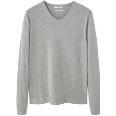 Silk Cotton-Blend Sweater (€26) ❤ liked on Polyvore featuring men's fashion, men's clothing, men's sweaters, men's v neck sweater, mens silk sweater and mens vneck sweater