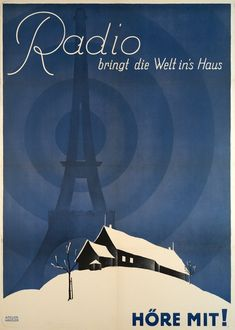 Radios, Ski Posters, Movie Posters, Original Vintage, Old Paper, Vintage Posters, Cotton Canvas, Illusions, History