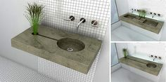 This is a great idea, a zen garden sink. Now if only I had a window in my bathroom...