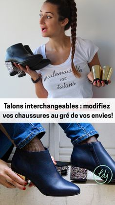 These shoes let you transform your heel design instantly - Talons  interchangeables   modifiez vos chaussures 588470605cec