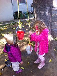 Appreciate Creativity and Innovation - pulleys in outdoor playspace