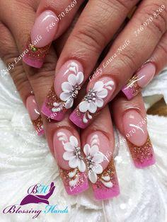 #nailmagazine #nailfashion #prettynails #nailaddict #uñasdecoradas #nailar Nail Art Designs, Beautiful Nail Designs, Beautiful Nail Art, Acrylic Nail Designs, 3d Nail Art, Cute Acrylic Nails, Fancy Nails, Bling Nails, Pretty Nails