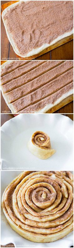 How to Make a Giant Cinnamon Roll Cake! Step-by-step instructions on sallysbakingaddiction.com