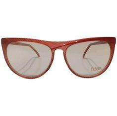Krizia 1980s red vintage sunglasses