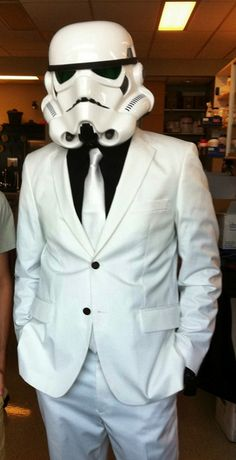 keepin it classy, storm trooper #Gentleman #follow http://www.pinterest.com/armaann1/classy-mofos/ | Men's fashion | Style |