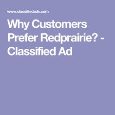 Why Customers Prefer Redprairie? - Classified Ad