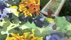 Painting Flowers Loosely in watercolour part 2 of 2, via YouTube.