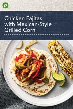 This recipe uses an orange and lime marinade. Publix Recipes, Lunch Recipes, Mexican Food Recipes, Crockpot Recipes, Mexican Dinners, Dinner Recipes, Cooking Recipes, Cookout Food, Man Food