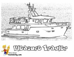 You Can Slide Crayon Onto These Bossy Boat Printables Of Jet Skis Fishermen And