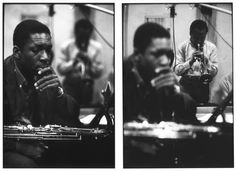 John Coltrane & Miles Davis, 'Kind of Blue' recording sessions, NYC, 1959. Photo by Don Hunstein