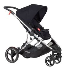 phil&teds voyager adaptable modular stroller. Suitable for one or two newborns/children.