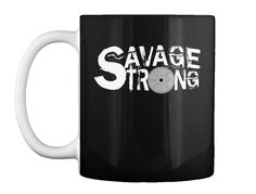 Savage Strong coffee mug (white logo)