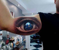 Stal Rzeszów football club tattoo eye on bicep Tribal Art Tattoos, Girl Tattoos, Eye Tattoos, Tatoos, Amazing 3d Tattoos, Beautiful Tattoos, Realistic Owl Tattoo, Spider Web Tattoo, Club Tattoo
