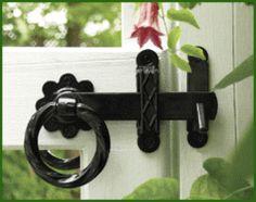 Heavy Duty Powder Coated Steel Twisted Ring Gate Latch, Black