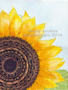 Vibrant Sunflower Art Print by SusyQStudio on Etsy, $16.00