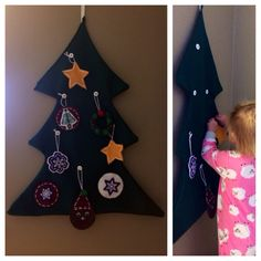 Felt Christmas Tree for Toddlers  diy  Toddler craft