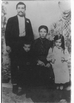 Photo of my grandmother, her brother and parents in Mersin, Cilicia, circa 1910. Her parents died on the death march in 1915. Remembering the Armenian Genocide, those who perished and those who survived.