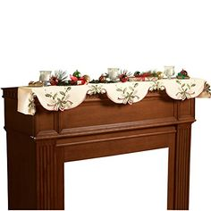 Christmas Holiday Holly Berry Table Linens, Mantel Scarf ... https://www.amazon.com/dp/B00EXDN2QE/ref=cm_sw_r_pi_dp_x_RhX-xbNZ30QV9