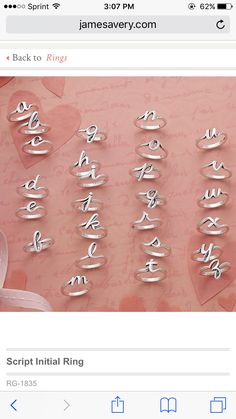 script initial ring with an S. size 6 1/2