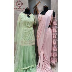 Mint Green, Blush Pink, Victorian, Saree, Suits, Shopping, Dresses, Fashion, Light Rose