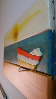 woodarsia: Summer in a boat. Made on reclaimed wood.W43.5cm H...
