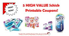 Print these 5 HIGH VALUE Schick Printable Coupons NOW! You can get up to $21 in savings that you won't want to miss.   Click the link below to get all of the details ► http://www.thecouponingcouple.com/schick-printable-coupons/ #Coupons #Couponing #CouponCommunity  Visit us at http://www.thecouponingcouple.com for more great posts!