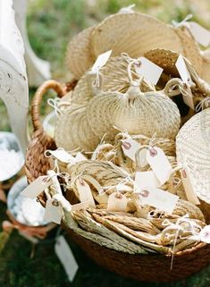 #palm ceremony fans #destination wedding decor  palm leaf fans for the ceremony -- perfect favors for your guests at your destination wedding